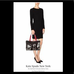 Kate Spade & M. Kalman Limited Edition Handheld Canvas Illustrations Adora Tote